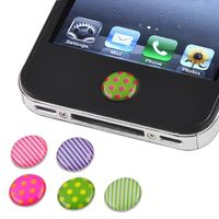 6 Pieces Home Button Sticker compatible with Apple® iPhone® 1st Gen