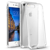 BasAcc Snap-in Case Compatible with Apple iPhone 7 Plus, Clear Hard/Clear TPU