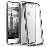 BasAcc Snap-in Case Compatible with Apple iPhone 7 Plus, Clear Hard/Black TPU