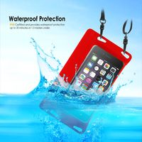BasAcc Waterproof Bag Case with Strap, Red