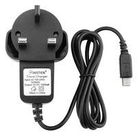 UK UK Plug Micro-USB Cell Phone Travel Charger  compatible with LG VN530 Octane, Black