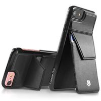 Stand Genuine Leather Case with Card Slot compatible with Apple iPhone 6/6s/7, Black