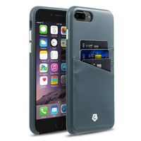 Cobble Pro Leather Textured Back Cover Case for iPhone 7 Plus, Grayish Blue