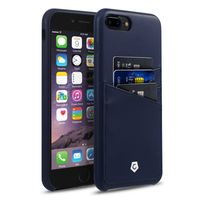 Cobble Pro Leather Textured Back Cover Case for iPhone 7 Plus, Dark Blue