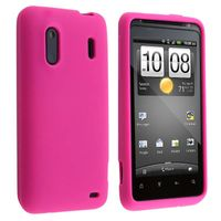 Silicone Skin Case compatible with  HTC EVO Design 4G, Hot Pink