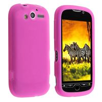 Silicone Skin Case compatible with  HTC T-Mobile MyTouch 4G, Hot Pink