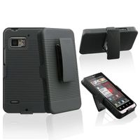 Holster with Stand compatible with  Motorola Droid Bionic XT875, Black