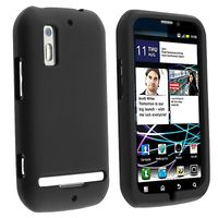 Silicone Skin Case compatible with  Motorola Photon 4G MB855, Black