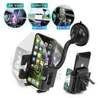 Swivel Windshield Phone Holder  compatible with Samsung© Galaxy Fit GT-S5670, Black