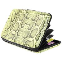 Vertical Aluminum Card Case,  Snake Skin