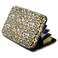 Vertical Aluminum Card Case,  Tiger Skin