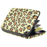 Vertical Aluminum Card Case,  Yellow Leopard Skin