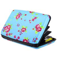 Vertical Aluminum Card Case,  Blue Flowers