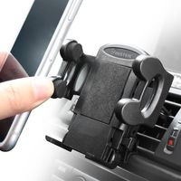 Car Air Vent Phone Holder compatible with Samsung© Suede SCH-R710, Black