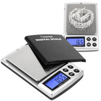 Digital Pocket Scale 0.1-1000 g, Black
