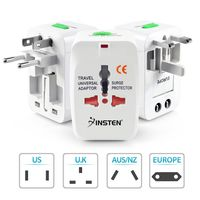 Universal World Wide Travel Charger Adapter Plug  compatible with Compaq Presario CQ43-301TU, White