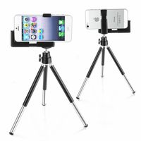 Tripod Phone Holder  compatible with Samsung© Solstice SGH-A887, Black