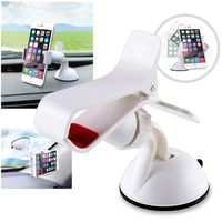 360-degree Swivel Universal Car Mount Phone Holder, White
