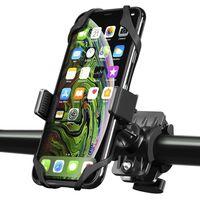 Universal Bicycle/Motorcycle Phone Holder with Secure Grip, Black