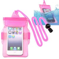 Waterproof Bag Case for Cell Phone, Hot Pink