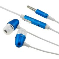 Universal 3.5mm In-Ear Stereo Headset w/ On-off & Mic  compatible with SanDisk Sansa C200 series C240, Blue