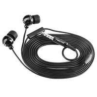 3.5mm In-Ear Stereo Headset w/ On-off & Mic, Ball-head Shape, Black