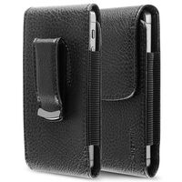 Leather Phone Case with Magnetic Flap  compatible with Samsung© Galaxy Centura S738C, Black