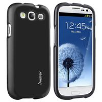 Snap-in Rubber Coated Case Compatible with Samsung Galaxy S III, Black