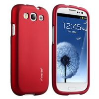 Snap-in Rubber Coated Case Compatible with Samsung Galaxy S III, Red