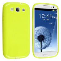 TPU Rubber Skin Case Compatible with Samsung Galaxy S III / S3, Light Green Jelly