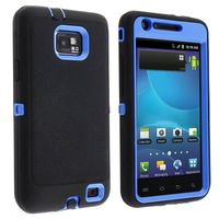Hybrid Case Compatible with Samsung© Galaxy S II AT&T i777, Blue / Black