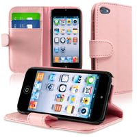 Leather Wallet Case with Card Holder compatible with Apple® iPod touch® 5th Generation, Pink