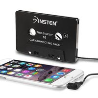 INSTEN Universal Car Audio Cassette Adapter compatible with LG P506 Thrive, Black