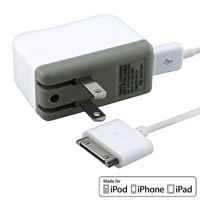 MYBAT Travel Charger [AP21CHAGTRAUSB01]  compatible with Apple® iPad® 3 / New iPad®, White