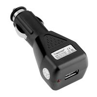 1A USB Car Charger Adapter, Black