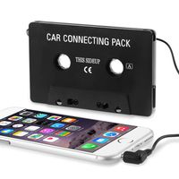 Universal Car Audio Cassette Adapter compatible with Sony NWZ-A826, Black