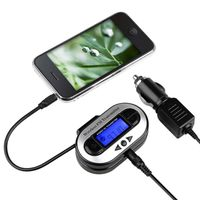 All Channel FM Transmitter w/ USB Port  compatible with Amazon Kindle Fire HD 7-inch (2012 Version), Black