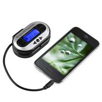 All Channel FM Transmitter w/ USB Port  compatible with Sony NWZ-A826, Black