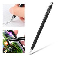 2-in-1 Capacitive Touch Screen Stylus Ballpoint Pen, Black