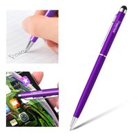 2-in-1 Capacitive Touch Screen Stylus Ballpoint Pen, Purple