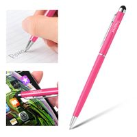 2-in-1 Capacitive Touch Screen Stylus Ballpoint Pen, Pink