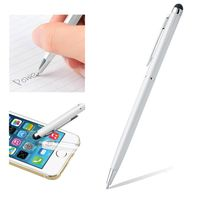 2-in-1 Capacitive Touch Screen Stylus Ballpoint Pen, White