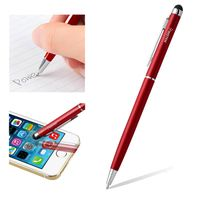 2-in-1 Capacitive Touch Screen Stylus Ballpoint Pen, Red
