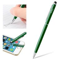 2-in-1 Capacitive Touch Screen Stylus Ballpoint Pen, Dark Green
