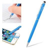 2-in-1 Capacitive Touch Screen Stylus Ballpoint Pen, Light Blue