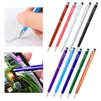 2-in-1 Capacitive Touch Screen Stylus Ballpoint Pen, 10-color Pack