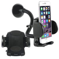 Cell phone Holder - Windshield Mount compatible with Nokia C5, Black