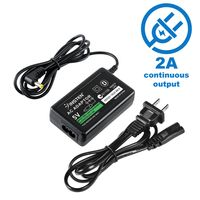 Travel Charger compatible with Sony PSP slim 2000 series, Black
