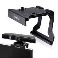Kinect Sensor Mount Holder compatible with Microsoft Xbox 360/ Xbox 360 Slim, Black