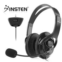 Headset with Microphone  compatible with Microsoft Xbox 360 Slim, Black